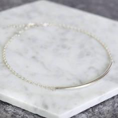 Sterling Silver Curved Bar Bracelet
