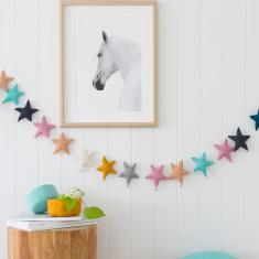 Puffy Star chimes garland