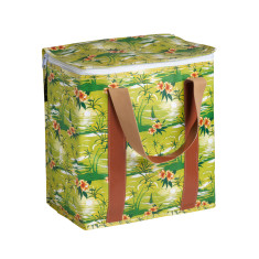 Insulated Cooler bag in Retro Palm print