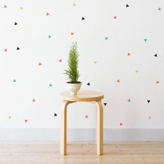 Confetti triangles wall stickers