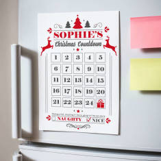 Personalised Magnetic Advent Calendar Countdown Sale