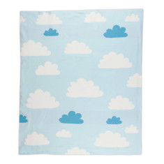 Cotton Knitted Blanket - Sky High