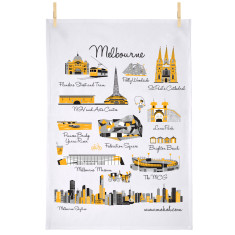 Melbourne icon tea towel
