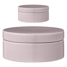 Decorator jars with lids (set of 2)