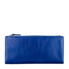 Dakota leather wallet in royal blue