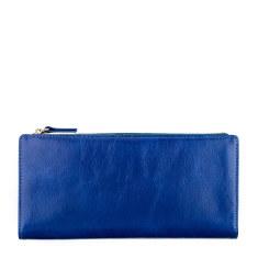 Dakota leather wallet in royal blue