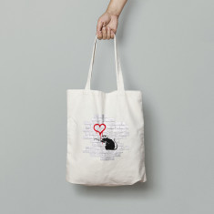 Banky Love Rat Canvas Tote Bag