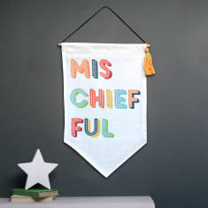 Mischief Fabric Wall Hanging