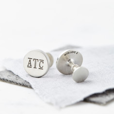 Personalilsed Sterling Silver Monogram Cufflinks