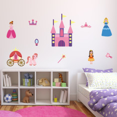 Princess and Fairytale Castle Wall Stickers