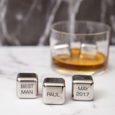 Best Man Stainless Steel Ice Cubes