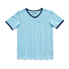 Boys' vintage blue v-neck t-shirt