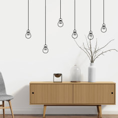 Lightbulbs wall decal