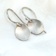 Flower Petal Earrings in 18ct White Gold