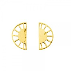 Ottoman half circle earrings in 18 kt yellow gold plate