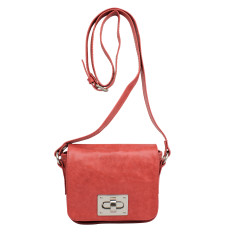 Lille buckle bag in cherry