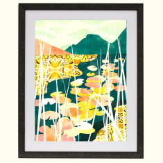 Lily hideaway art print