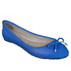 Foldable Lily flats in blue