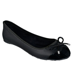 Foldable Lily flats in black