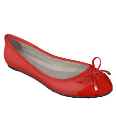 Foldable Lily flats in red
