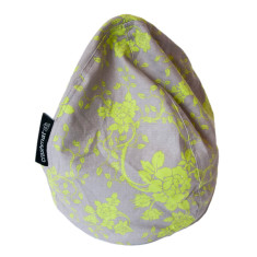 Lime floral bubble iPad holder