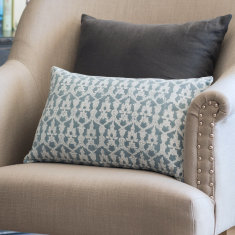 Cotton turquoise cushion