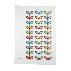 Coloured leaves tea towel
