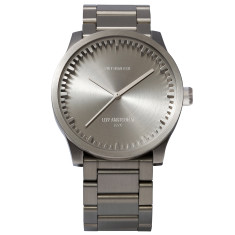 Leff Amsterdam tube watch S38 steel finish