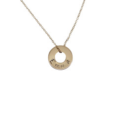 Little circle gold filled necklace
