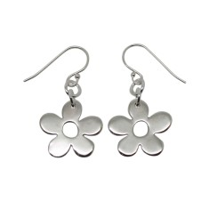 Little daisy handmade sterling silver Earrings