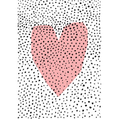 Dotty heart archival art print by Sweet William