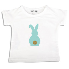 Boys' Easter bunny bling tail t-shirt in mint