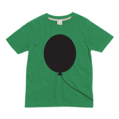 Kids' chalkboard t-shirt in green balloon design