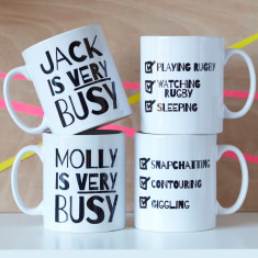 Personalised Very Busy Teenager Mug