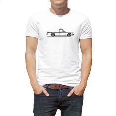 Panel van on the Side men's organic t-shirt