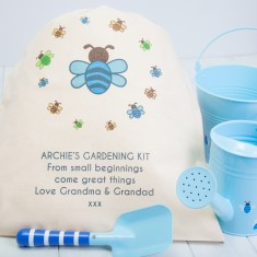 Personalised Children's Gardening Set And Gift Bag