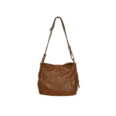 Matilde genuine leather shoulder bag in brown