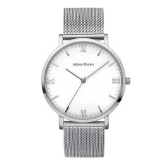 Men's Silver Mesh Watch