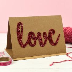 Love Glitter Type Card