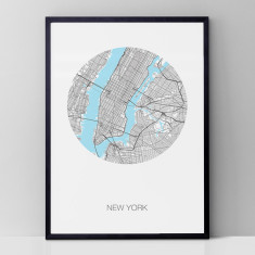 New York CIty round print