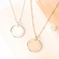 Personalised Edge Charm Necklace