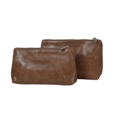 Bella the leather pouch set for all your needs (2 pieces)