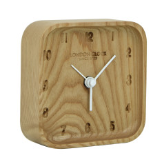 London Clock Company Blokk solid wood silent alarm clock