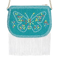 Butterfly play purse bag with fringing