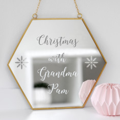 Personalised Christmas With Grandma Mirror