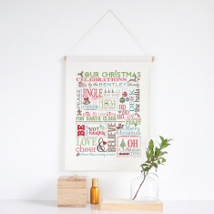Christmas Celebrations personalised wall banner