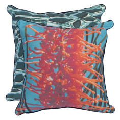Deep Sea Grevillea cushion cover