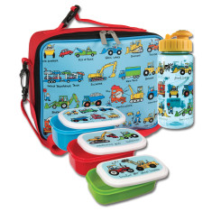 Tyrrell Katz Working Wheels 3 piece lunch set