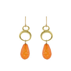 Orange eternity earrings