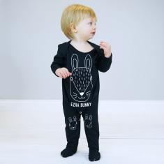 Personalised Scandi Bunny Baby Onesie